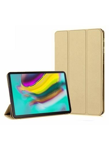 Microsonic Samsung Galaxy Tab S5e 10.5'' T720 Smart Case ve arka Kılıf Gold Altın